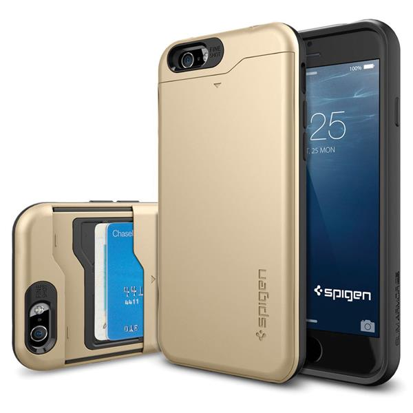 iPhone 6/6s Case, Spigen Slim Armor CS for iPhone 6/6s - Champagne Gol