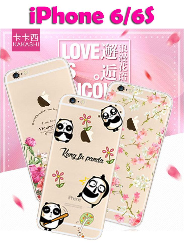 iPhone 6/6S Floral Cartoon Series Silicon Case