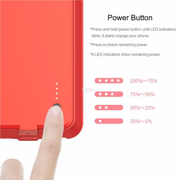 iPhone 6 6S PLUS Slim External Battery Case Cover