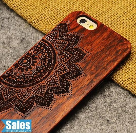 iPhone 6 Plus Real Wood Craved CASE CASING COVER