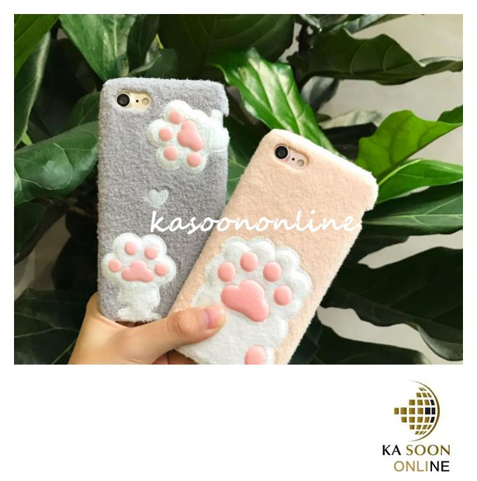 iPhone 7 4.7'',iPhone 7 Plus 5.5'' 2D Cat Foot Case