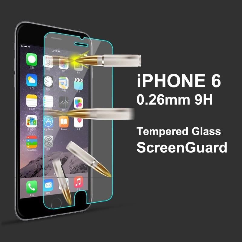 iPhone6 / iPhone 6 Plus 9H 0.26mm Tempered Glass Screen Protector Film