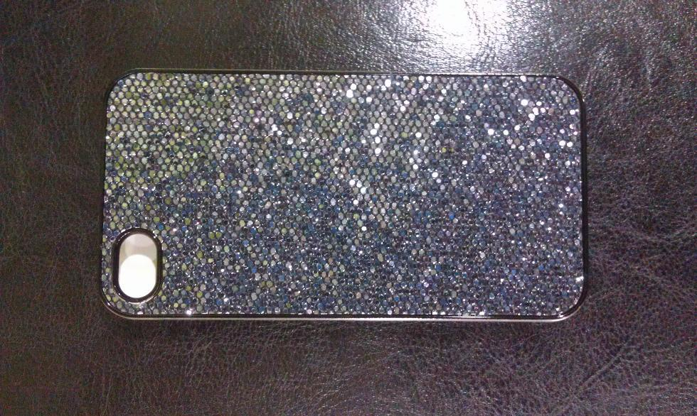 IPOHNE 4 4S BLACK BLING BLING HARD CASE