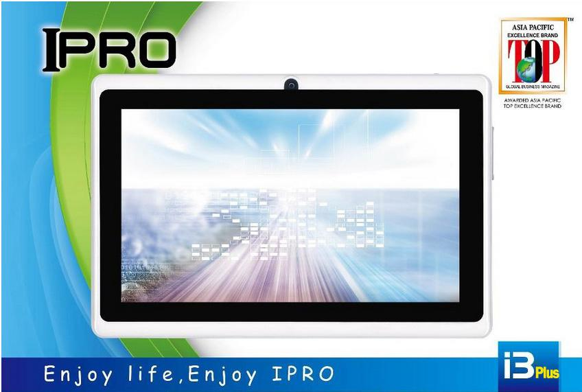 IPRO i3 Plus 7 inch Tablet Android /1.5GHz/4GB storage/512mb/Dual Came..