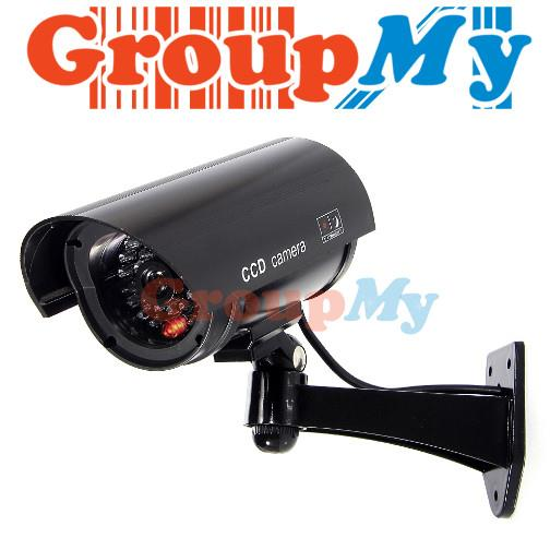 IR Dummy Camera Security Surveillance LED CCTV Red Flashing Fake Outdo