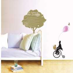 IR KoreaDeco Plant Series - Tree _ Bicycle (50cmx70cm)