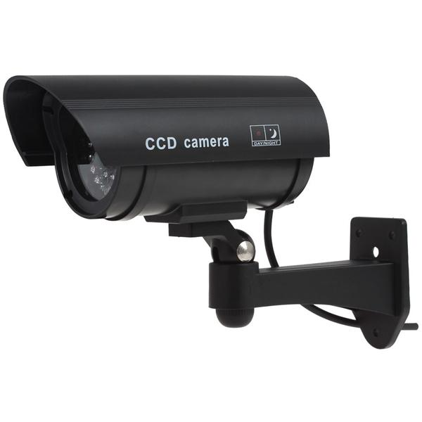 IR LEDs Emulational Fake Decoy Dummy CCTV Camera with Red Blinking LED