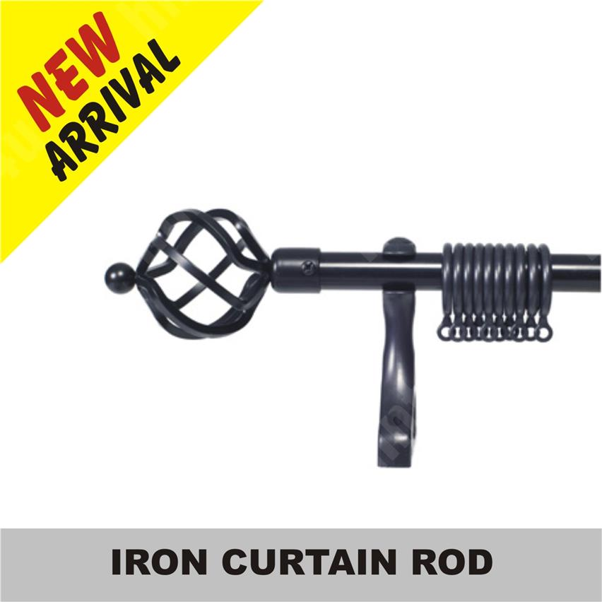 IRON CURTAIN ROD 4' / 5' / 6' / 7' / 8' / 9'