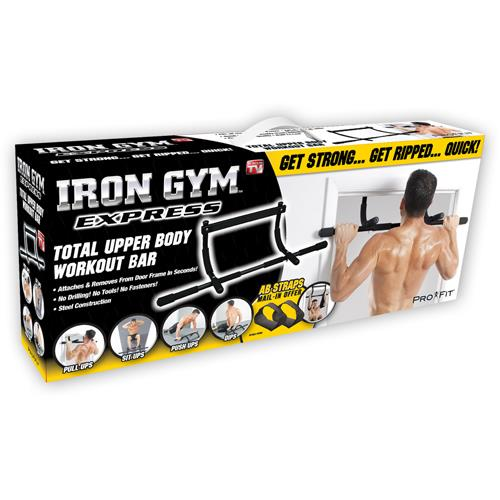 Iron Gym Upper Body Workout Bar Abs Push Ups Exercise