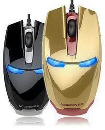 Iron Man Gaming Mouse Tyrant gold / Black USB wired mouse