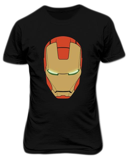 Iron Man Helmet Mark III T-shirt Black
