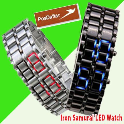 Iron Samurai Japanese Ice LED Watch jam imported.japanese style.borong