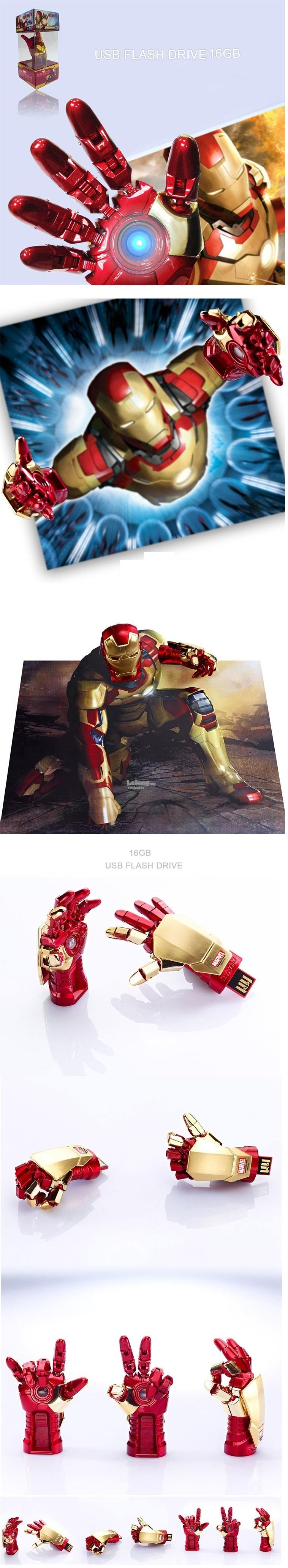 IRONMAN HAND Flash Drive 16GB LED USB