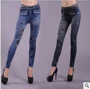 Irregular Holes Printing Seamless Leggings