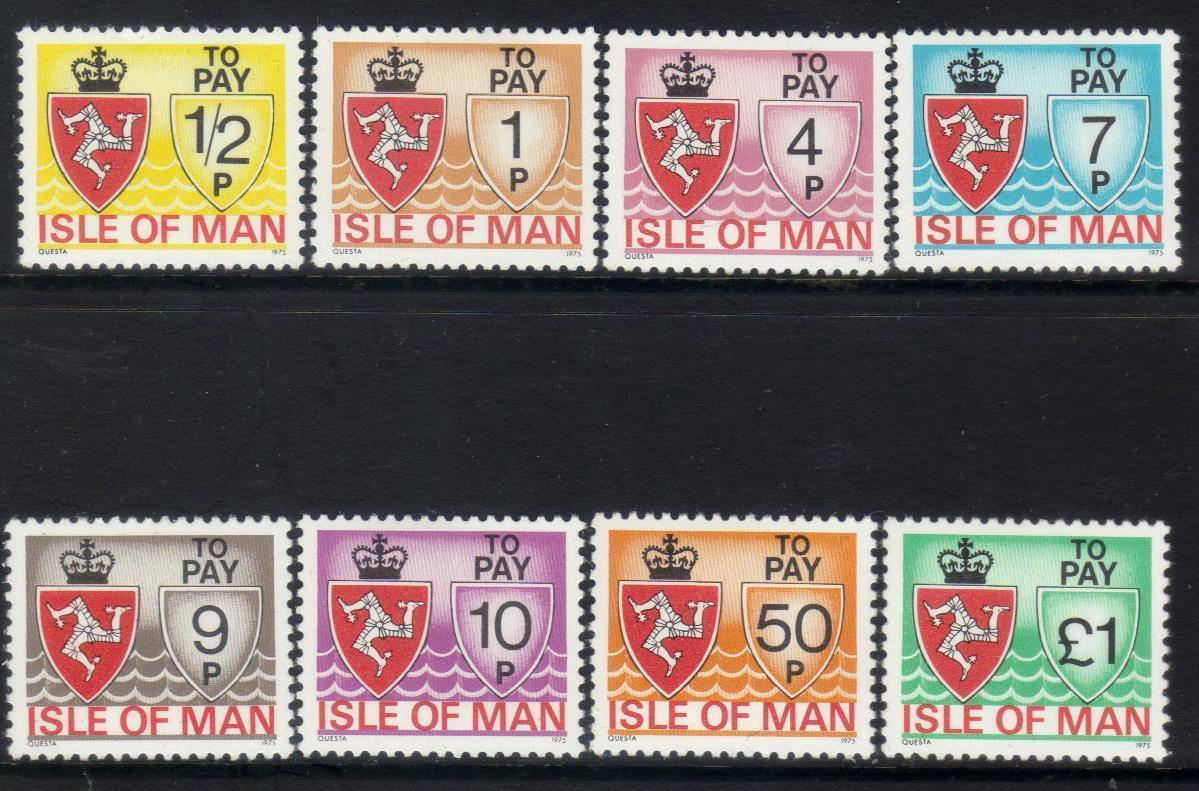 ISLE OF MAN 1975 POSTAGE DUE MM stamps BJ178