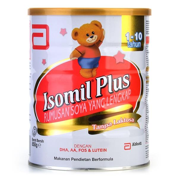 Isomil plus soy milk above 1 years old 850g x 2 tins itemid
