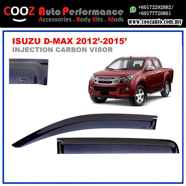 ISUZU D-MAX Dmax 2012-2015 Sun Window Vent Door Visor (Carbon)
