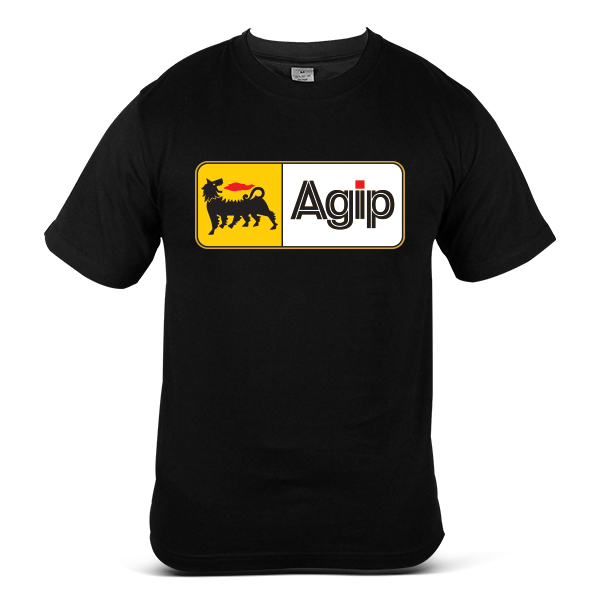 Italy AGIP Automotive Gasoline Diesel OIL Fuel 100% Cotton T-Shirt 1