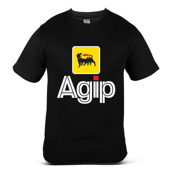 Italy AGIP Automotive Gasoline Diesel Oil Fuel 100% Cotton T Shirt 2