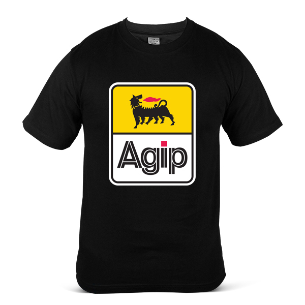Italy AGIP Automotive Gasoline Diesel OIL Fuel 100% Cotton T-Shirt 4