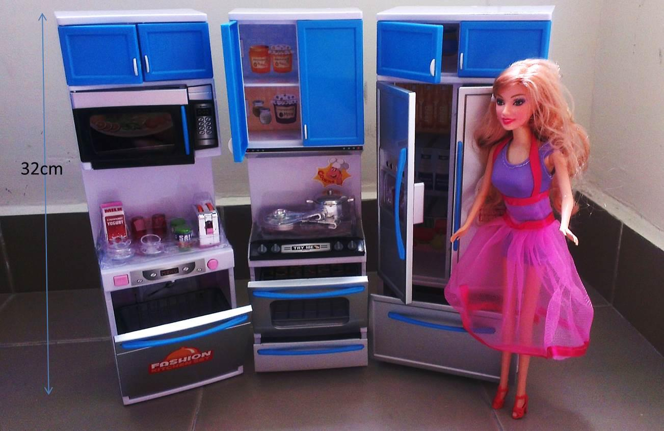 Malaysia online shopping auction lelong for Barbie kitchen set 90s