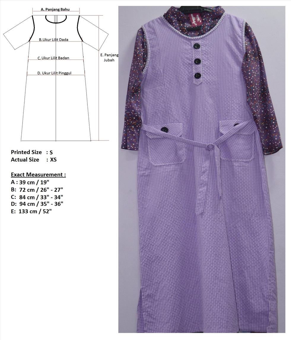 J4 Jubah Muslimah Overall [size S]