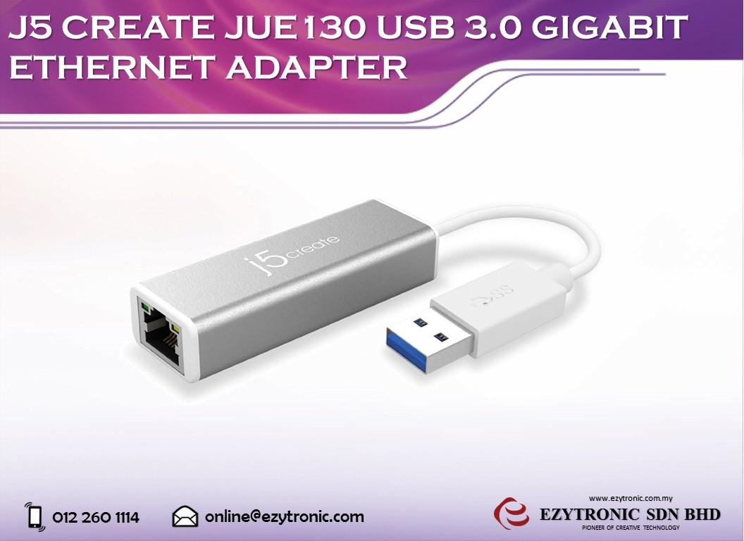 J5 Create JUE130 USB3.0 Gigabit Ethernet Adapter