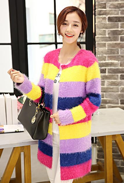 J6564 Colourful Cardigan As Picture