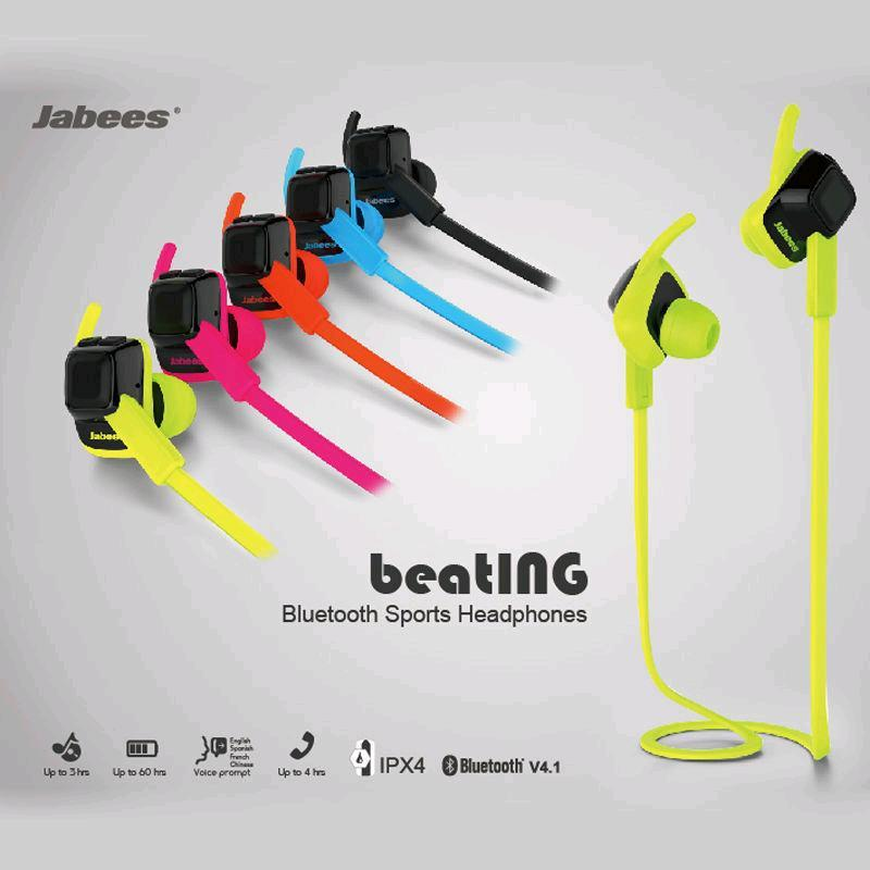Jabees Beating Professional Sports Ipx4 Waterproof Bluetooth Headset