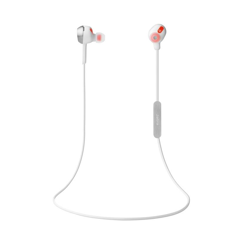 Jabra® ROX Wireless Bluetooth Stereo Earbuds (White)