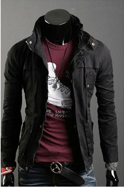 Mens Black Casual Jacket - Pl Jackets