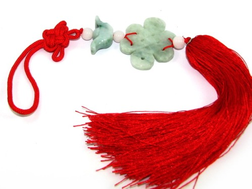 Jade Feng Shui Mystic Knot Tassels for All-round Good Fortune