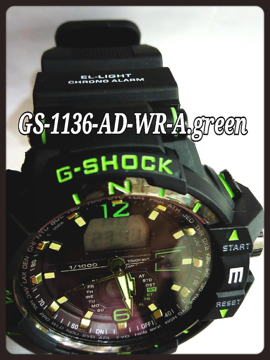 Jam Tangan Genius G.Shock-GS-1136-AD-WR-Apple Green
