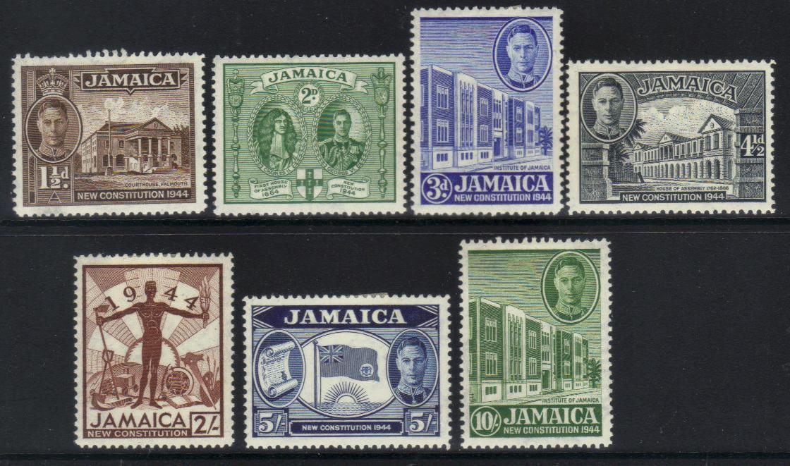 JAMAICA KGVI 1945 NEW CONSTITUTION M/M stamps CAT £10 BJ100