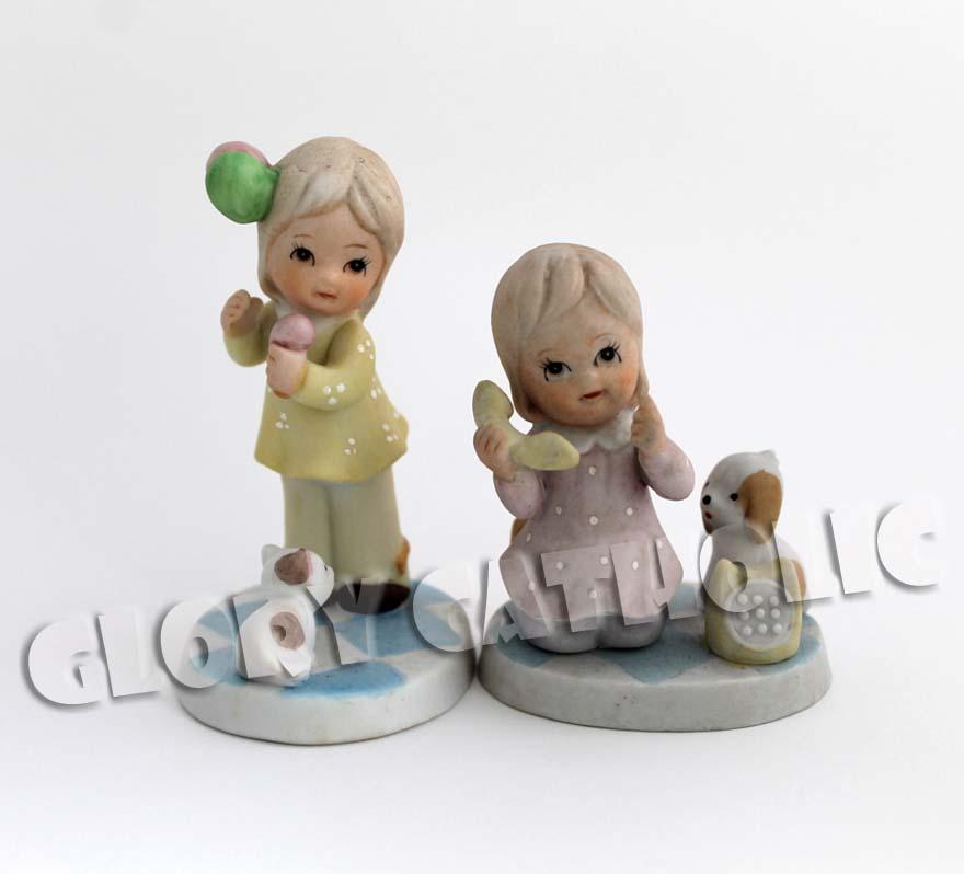 Japan ceramic little girls 日本陶瓷小&#2..