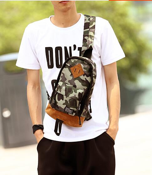 Japan and South Korea of the trend of camouflage small backpack