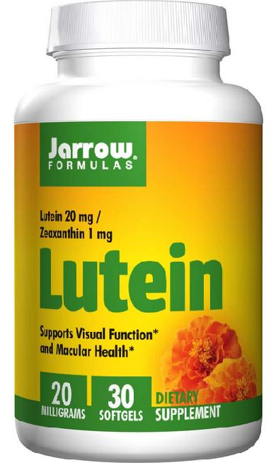 Jarrow Formulas, Lutein, 20mg, 30 Caps (Chepeast and Import from USA)