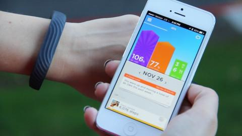 JAWBONE UP24 FITNESS TRACKER LARGE - PERSIMMON