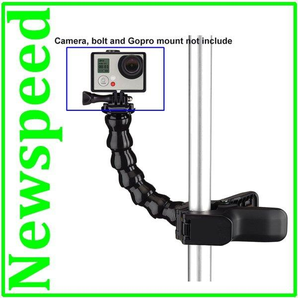 Jaws Flexible Clamp with Mount for Action Camera SJCAM SJ4000 GoPro