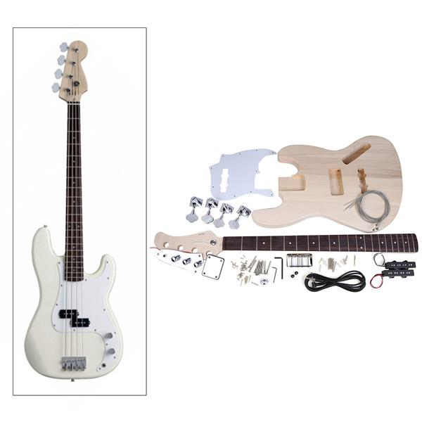 JAZZ Bass Style 4-String Electric Bass Solid Basswood Body Maple Neck