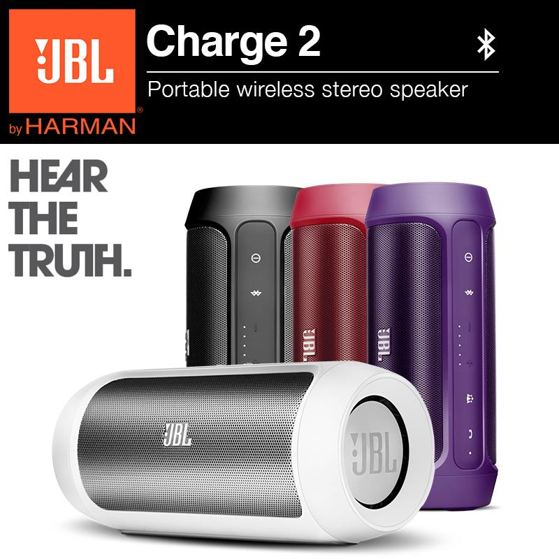 JBL Charge 2 Portable Bluetooth Wireless Speaker with built in mic