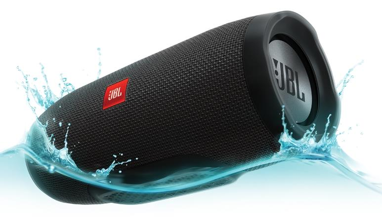 JBL CHARGE 3 6000MAH BLUETOOTH PORTABLE SPEAKER (BLK)