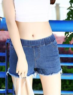 Jean Show-slim Tassel Shorts (Dark Blue)