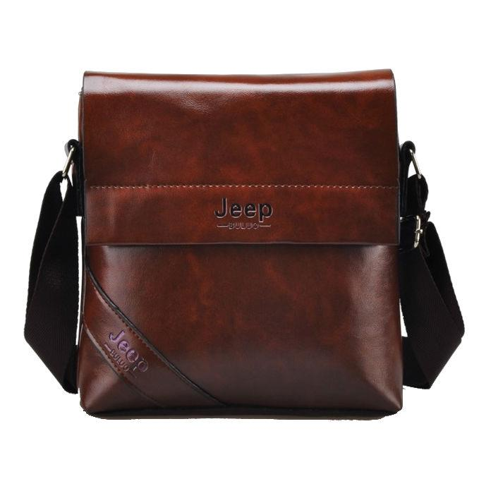 Jeep Buluo Leather Briefcase Shoulder Bag Fashion Working Briefcase