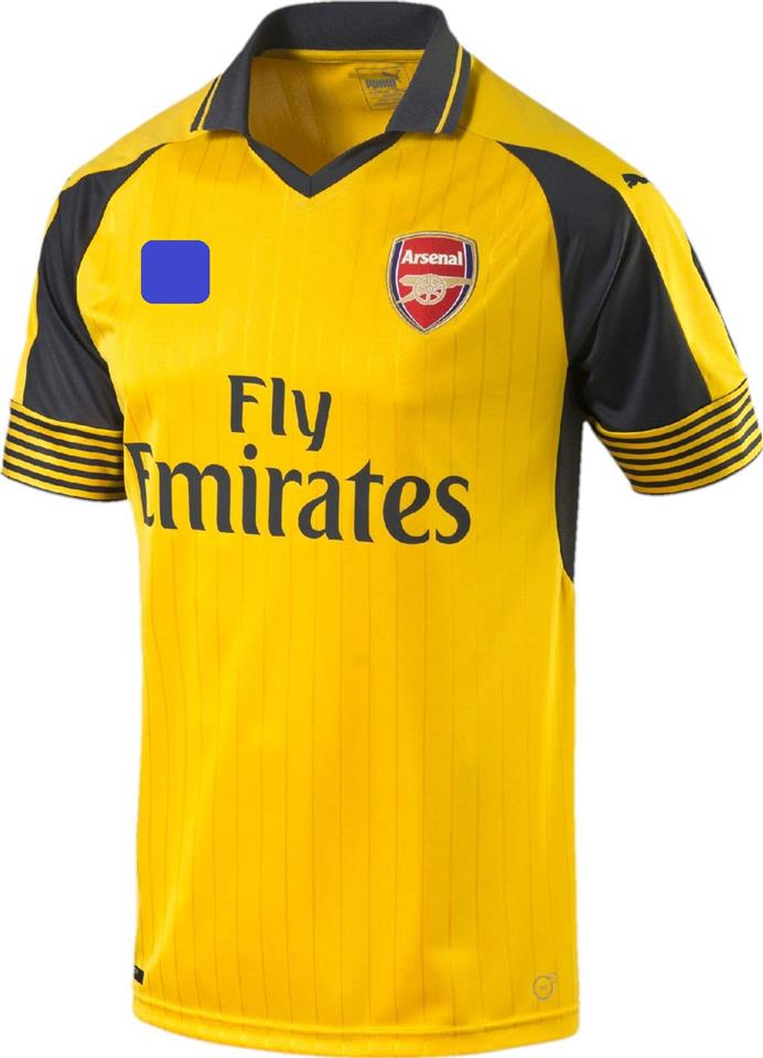 Jersey/Jersi Arsenal Away 2016/2017 WITH BPL ARM PATCH