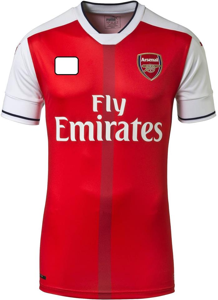 Jersey/Jersi Arsenal Home 2016/2017 WITH BPL ARM PATCH