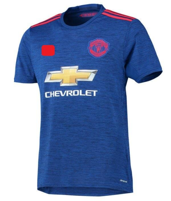Jersey/Jersi Man Utd Away 2016/2017 WITH BPL ARM PATCH