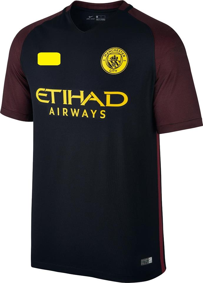 Jersey/Jersi Manchester City Away 2016/2017 WITH BPL ARM PATCH