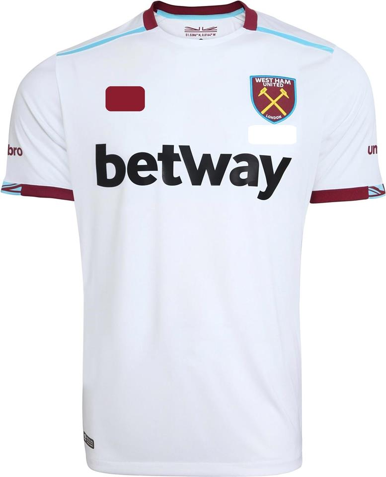 Jersey/Jersi West Ham United Away 2016/2017 WITH BPL ARM PATCH