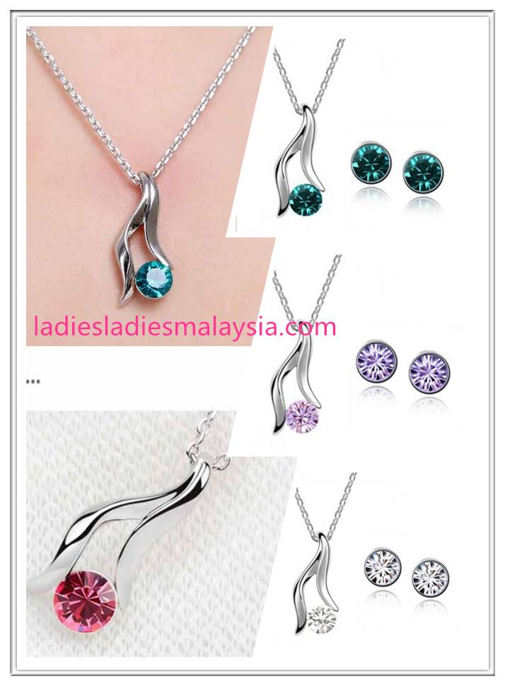 Jewellery Sets – Pendant necklace & earrings (Crystal)